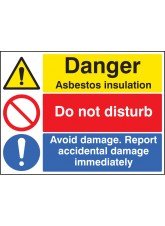 Asbestos Insulation, Do Not Disturb, Report Damage