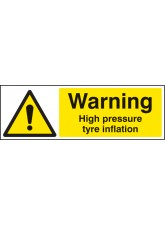 Warning High Pressure Tyre Inflation