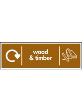 WRAP Recycling Sign - Wood & Timber