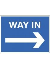 Way in - Arrow Right